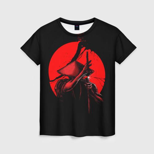 Женская футболка 3D Сила самурая