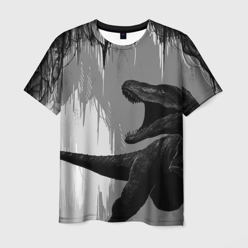 Мужская футболка 3D Пещера динозавра