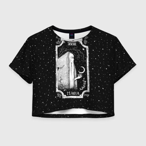 Женская футболка Crop-top 3D Ночная магия