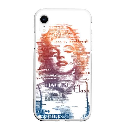 Чехол для iPhone XR матовый Мэрилин Монро