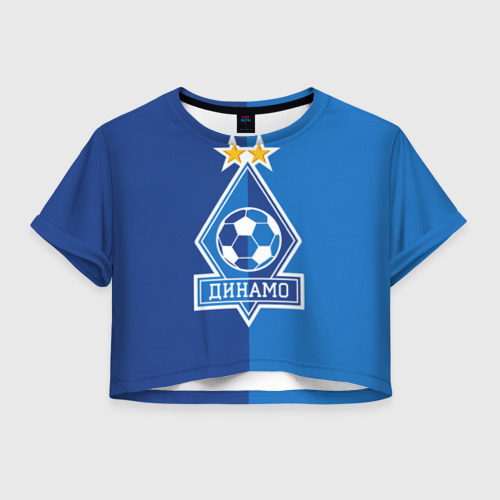 Женская футболка Crop-top 3D Динамо Киев ФК
