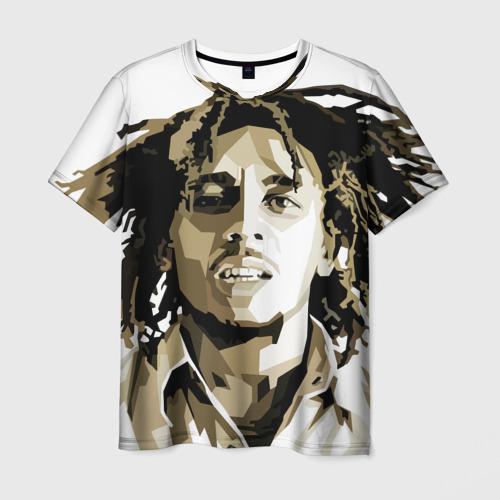 Мужская футболка 3D Ямайка, Боб Марли