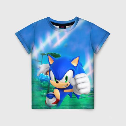 Детская футболка 3D Соник Бум