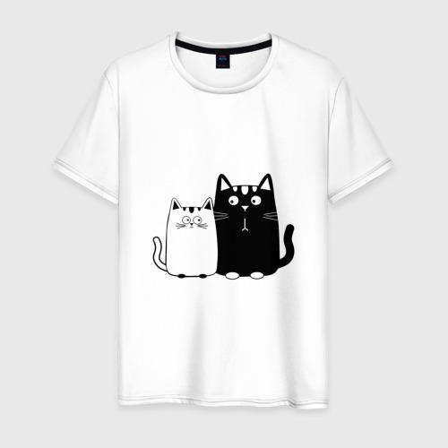 Мужская футболка хлопок Влюбленные коты
