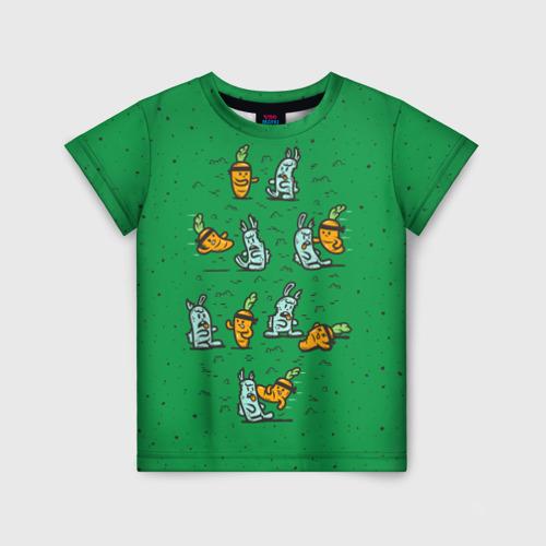 Детская футболка 3D Боевая морковь
