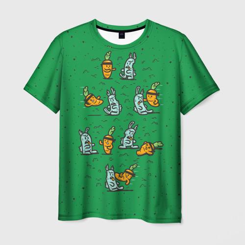 Мужская футболка 3D Боевая морковь