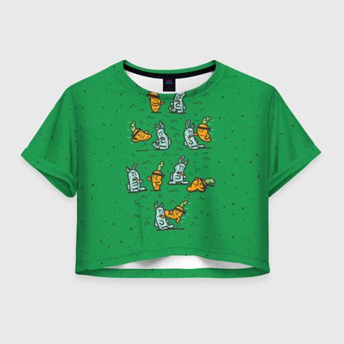 Женская футболка Crop-top 3D Боевая морковь