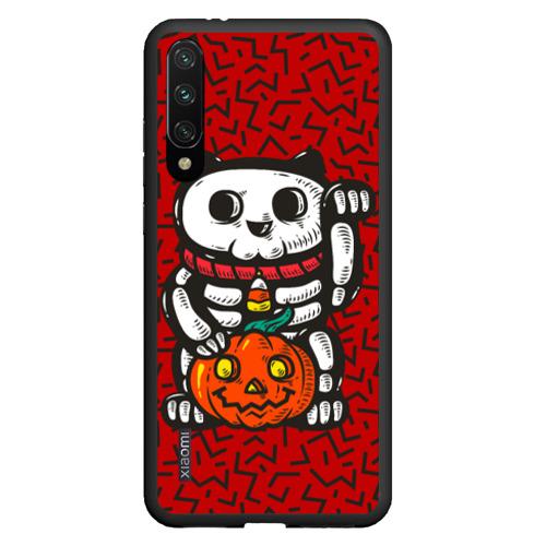 Чехол для Xiaomi Redmi Mi A3 Хэллоуинский кот