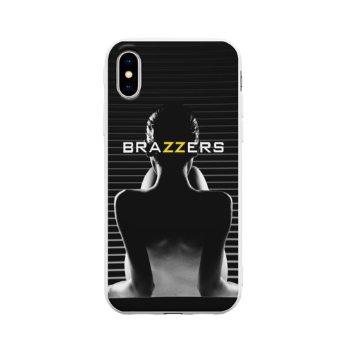 Чехол для iPhone X матовый Brazzers