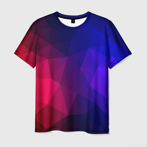 Мужская футболка 3D Red&Blue
