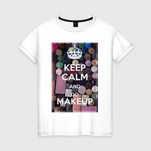Женская футболка хлопок Для визажиста