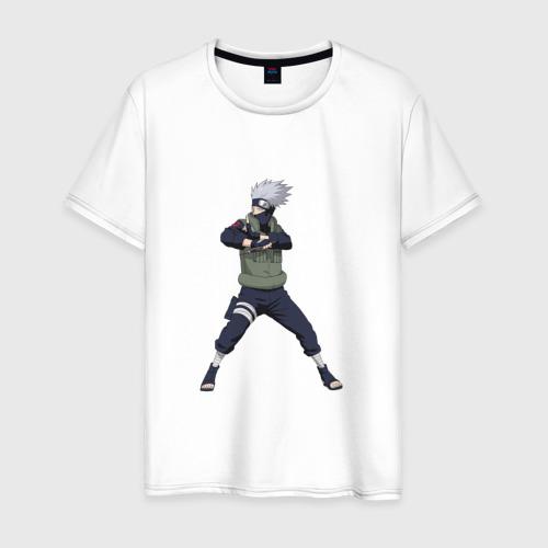 Мужская футболка хлопок Какаши Хатаке