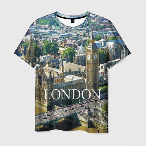 Мужская футболка 3D Улицы Лондона
