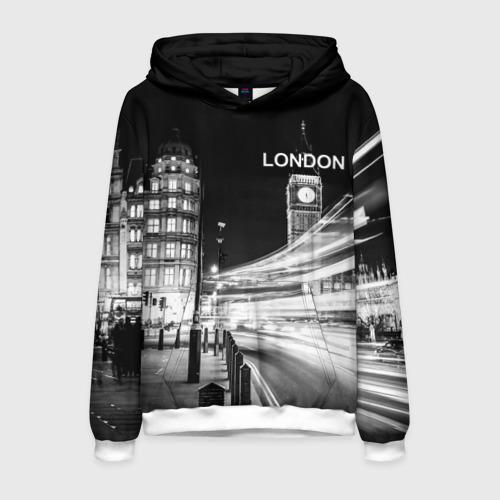 Мужская толстовка 3D Улицы Лондона