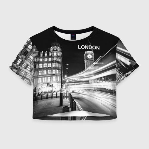 Женская футболка Crop-top 3D Улицы Лондона