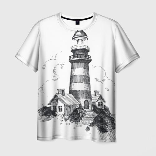 Мужская футболка 3D Маяк