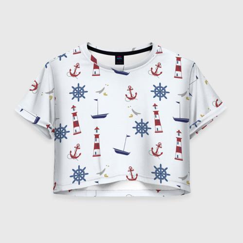 Женская футболка Crop-top 3D Речник