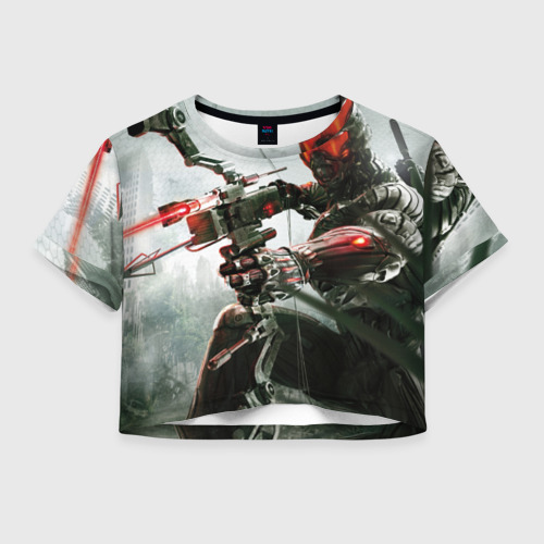 Женская футболка Crop-top 3D Кризис