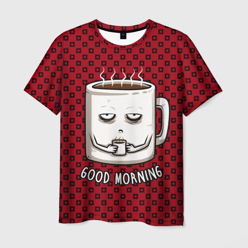 Мужская футболка 3D Good Morning