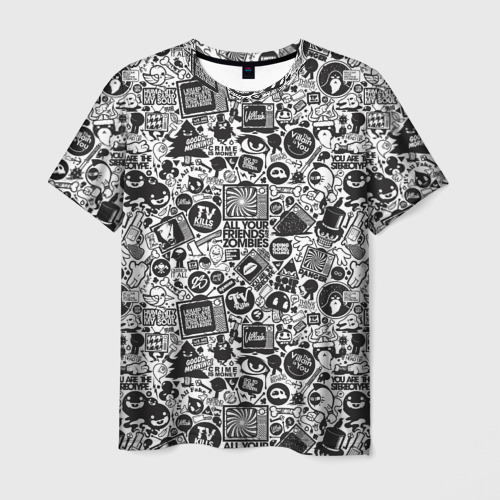 Мужская футболка 3D Стикербомбинг