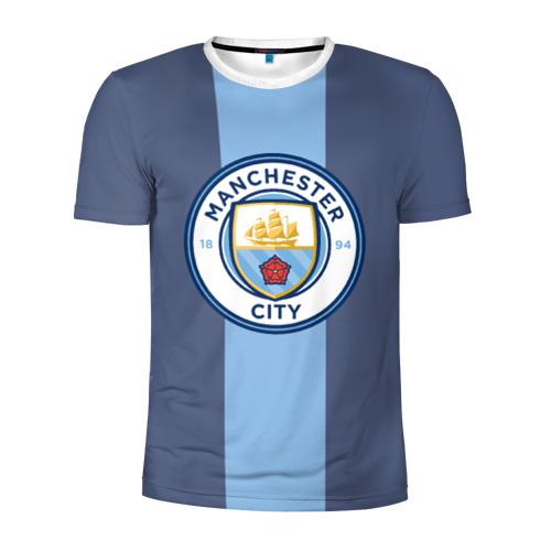 Мужская футболка 3D спортивная Манчестер Сити