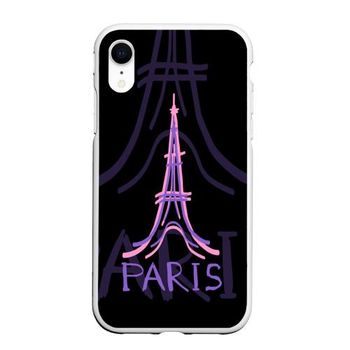 Чехол для iPhone XR матовый Париж