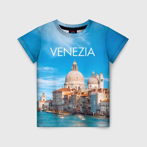 Детская футболка 3D Венеция