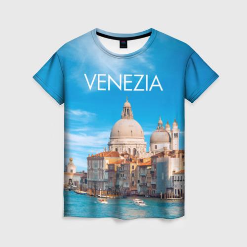 Женская футболка 3D Венеция