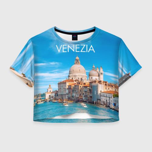 Женская футболка Crop-top 3D Венеция