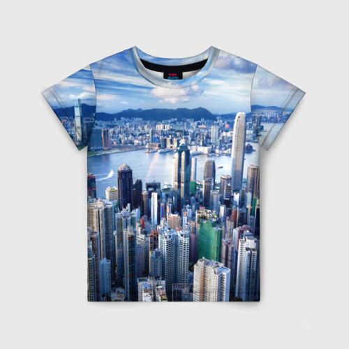 Детская футболка 3D Гонконг, Китай