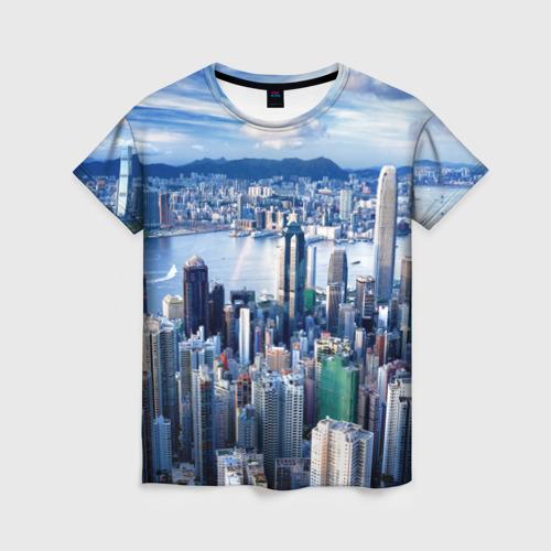 Женская футболка 3D Гонконг, Китай