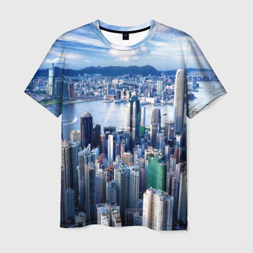 Мужская футболка 3D Гонконг, Китай