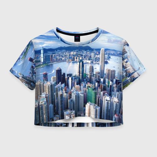 Женская футболка Crop-top 3D Гонконг, Китай