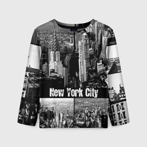 Детский лонгслив 3D Улицы Нью-Йорка
