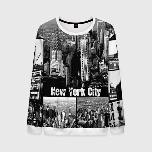 Мужской свитшот 3D Улицы Нью-Йорка