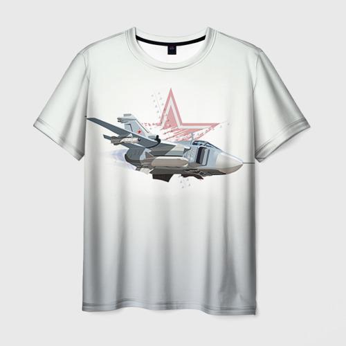 Мужская футболка 3D Су-24