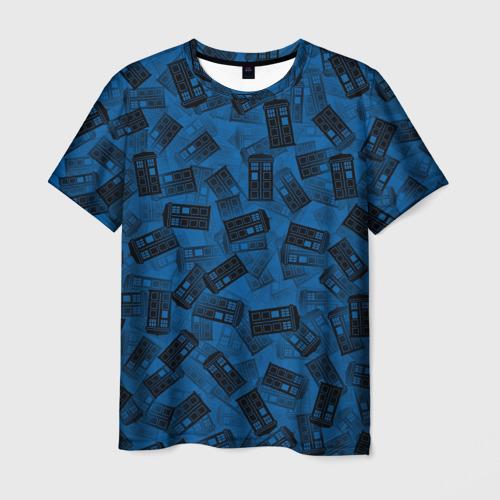 Мужская футболка 3D Будки Тардис
