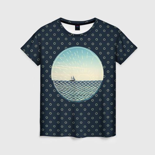 Женская футболка 3D Морское настроение