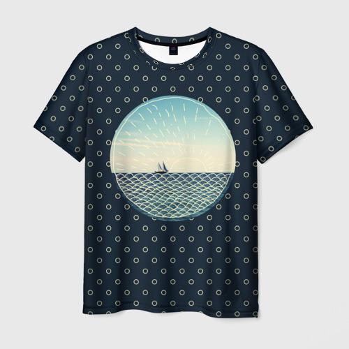 Мужская футболка 3D Морское настроение
