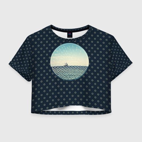 Женская футболка Crop-top 3D Морское настроение