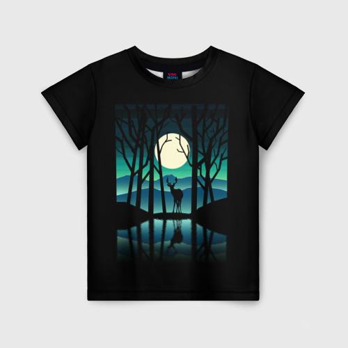 Детская футболка 3D Ночная природа