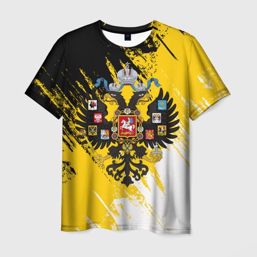 Мужская футболка 3D Имперский флаг и герб
