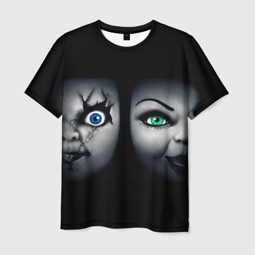 Мужская футболка 3D Чаки и невеста