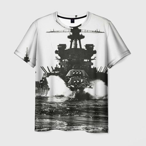 Мужская футболка 3D Боевой катер
