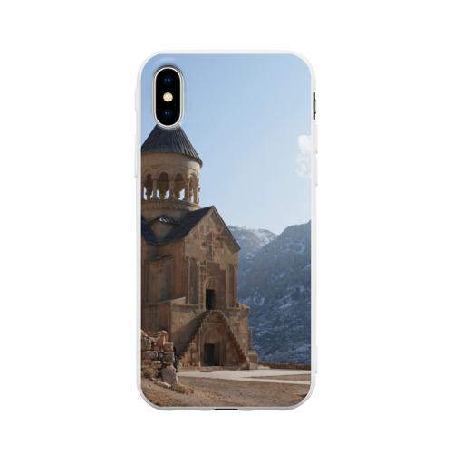 Чехол для iPhone X матовый Монастырь Нораванк