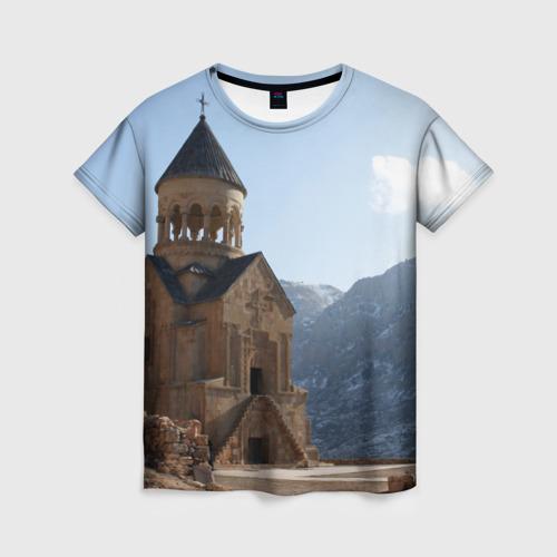 Женская футболка 3D Монастырь Нораванк