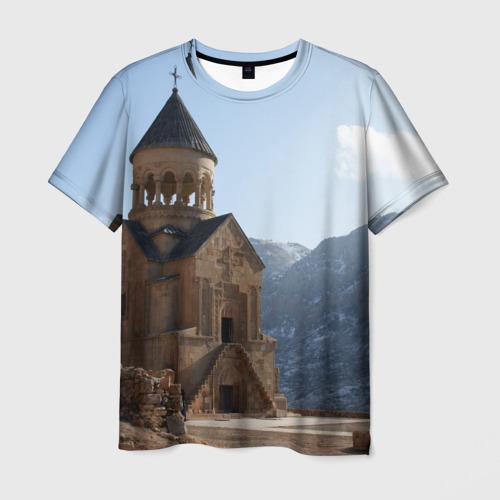 Мужская футболка 3D Монастырь Нораванк