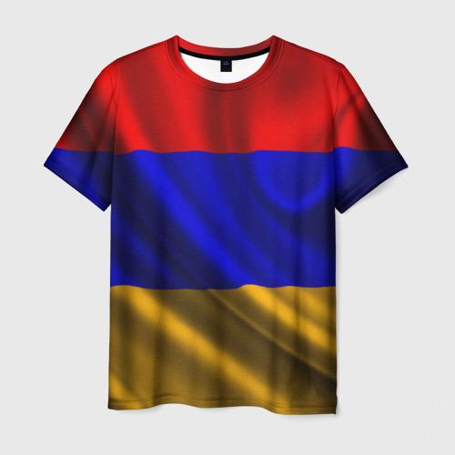 Мужская футболка 3D Флаг Армения