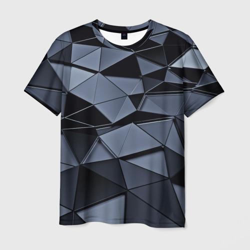 Мужская футболка 3D Abstract Gray