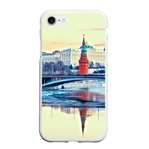 Чехол для iPhone 7/8 матовый Река Москва
